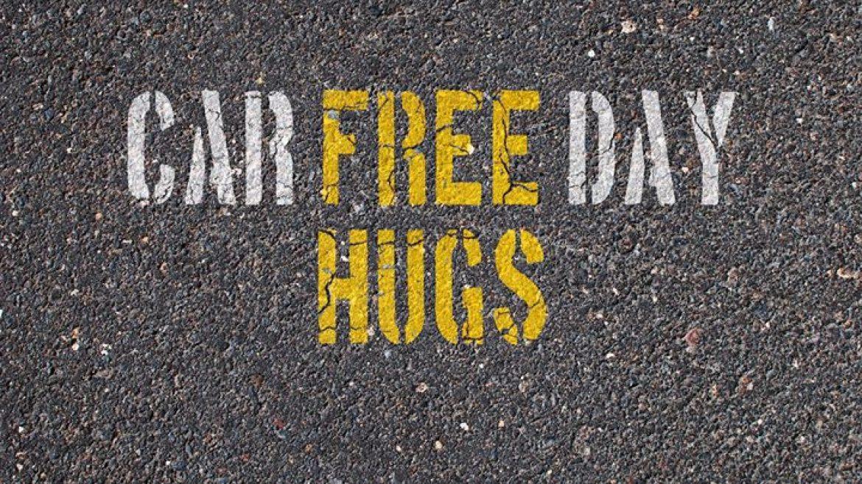 Free Hugs at Car Free Day (Vancouver, BC)