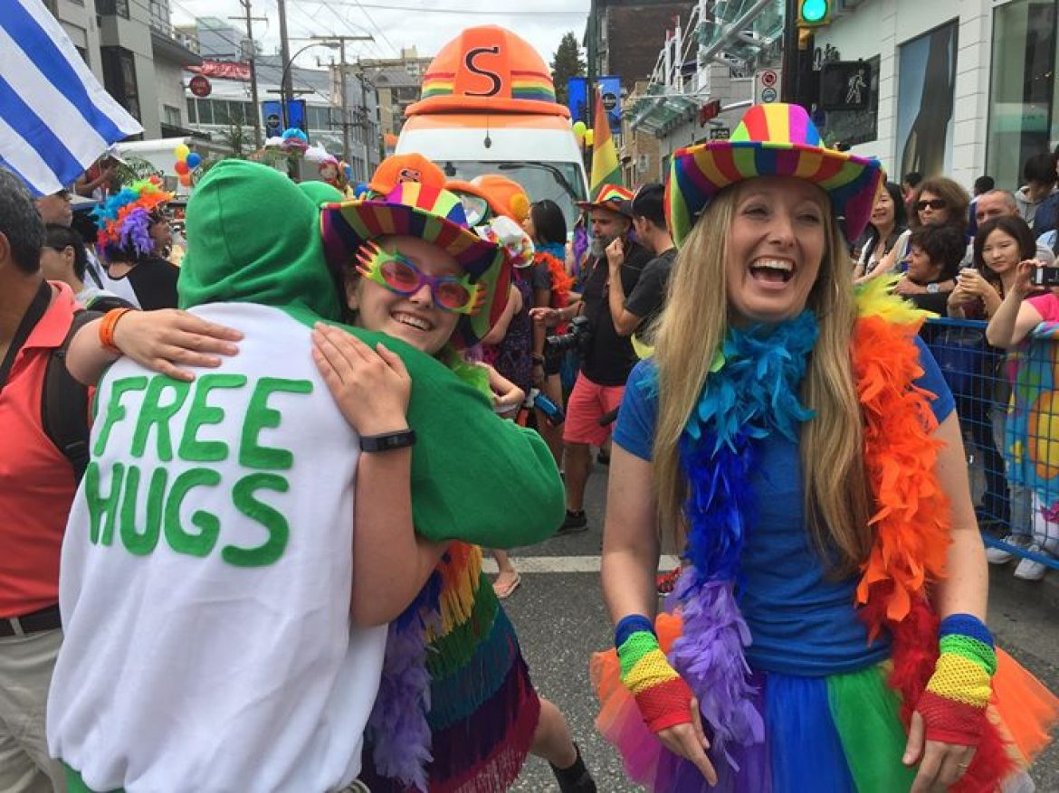 Free Hugs at the Pride Parade (Vancouver, BC)