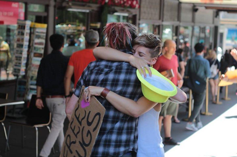 Free Hugs at Britomart (Auckland, New Zealand)